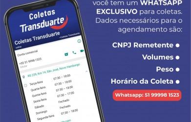 WhatsApp exclusivo para setor de coletas da empresa